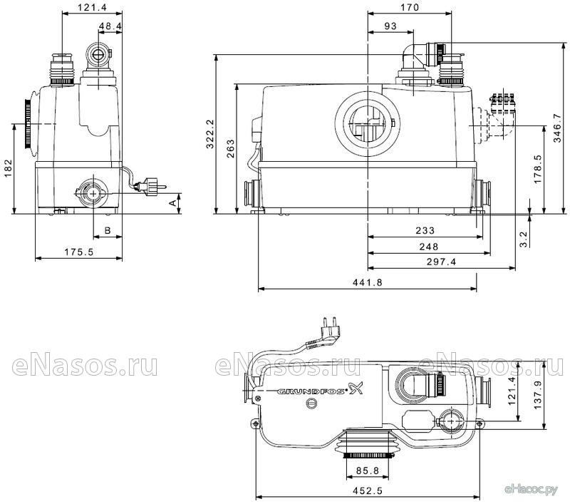 Напорная установка sololift wc 3